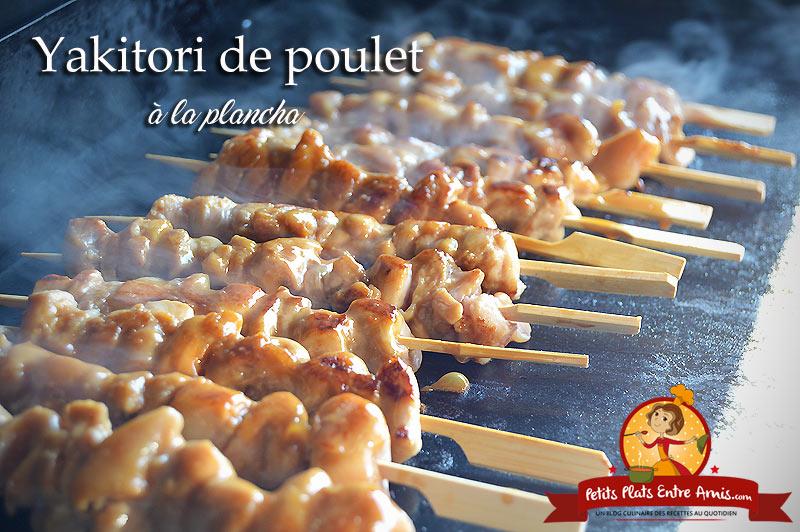 Yakitori de poulet à la plancha