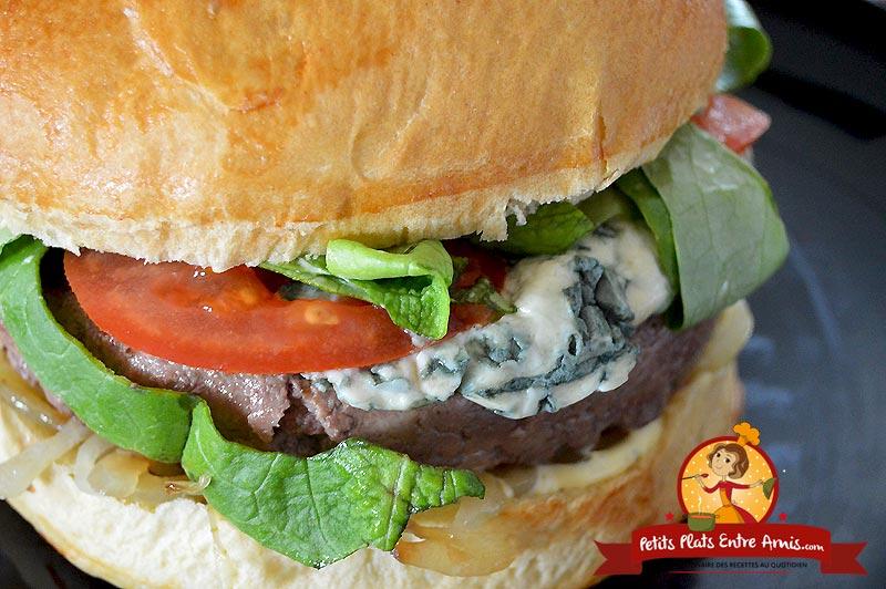 Recette de hamburger au bleu d'Auvergne
