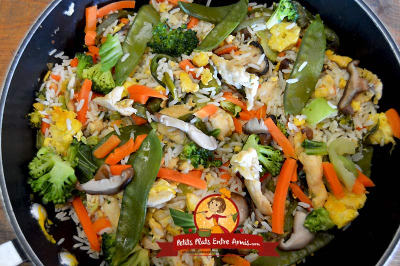 Recette de riz sauté au poulet