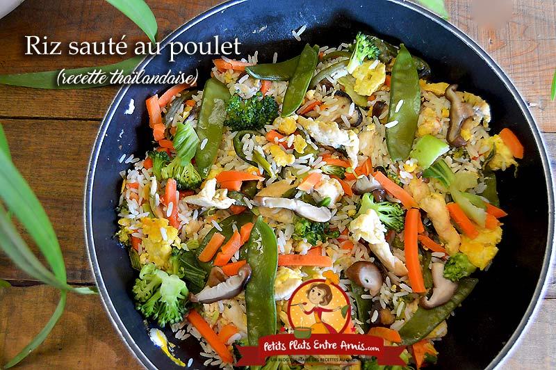 Riz sauté au poulet (recette thaïlandaise)