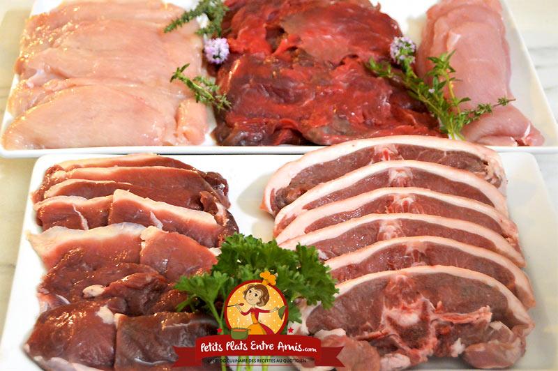 Viande pour cuisson à la plancha