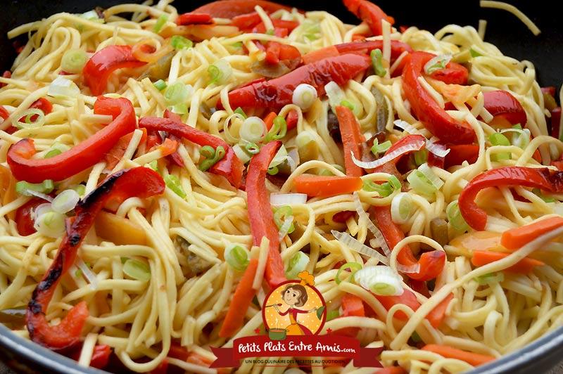 Recette de nouilles chinoises aux légumes