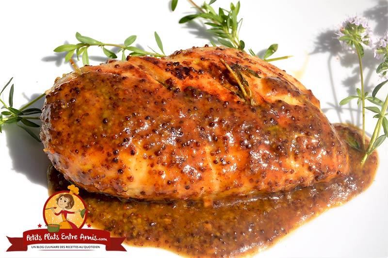 Recette de filet de poulet moutarde et miel