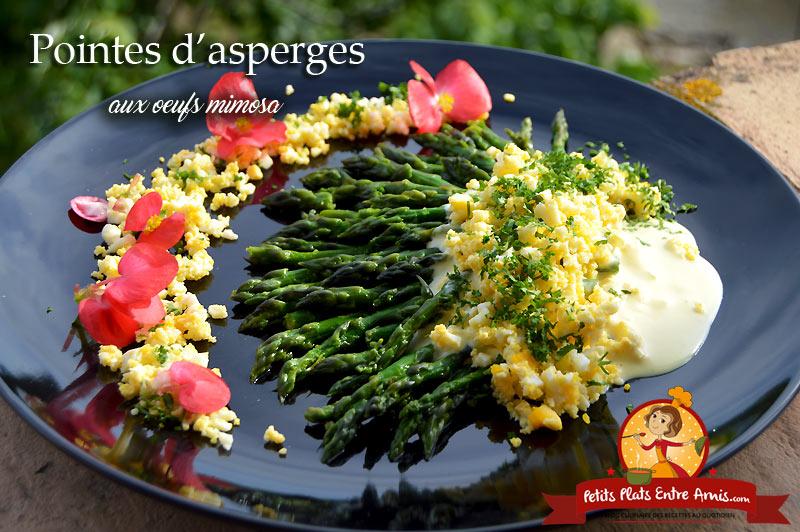 Pointes d'asperges aux oeufs mimosa