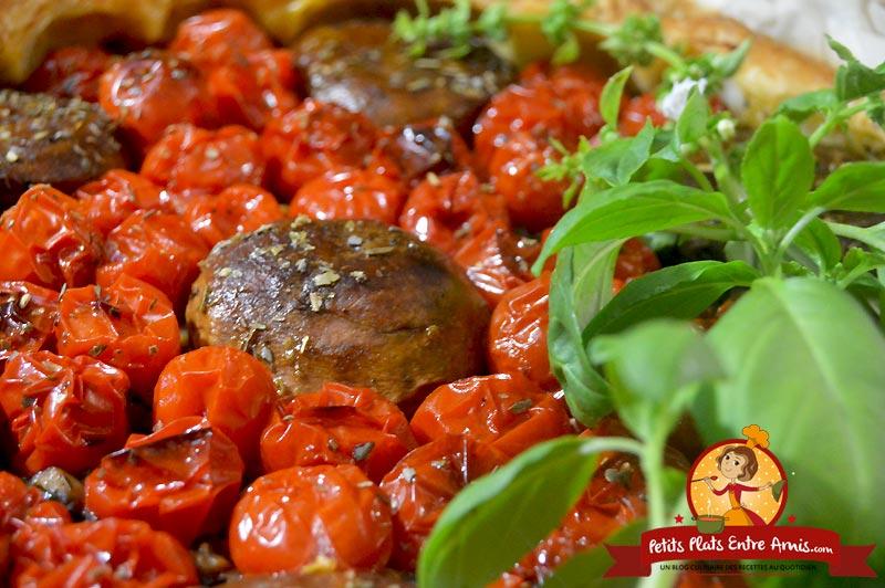 Recette de tarte aux champignons et huile d'olive
