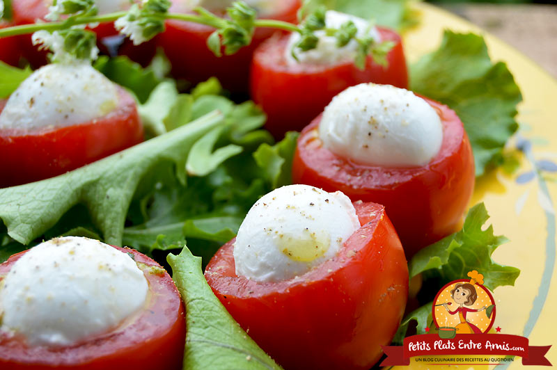 Recette de tomates mozzarella au pesto
