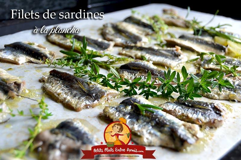 Filets de sardines à la plancha