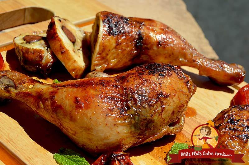 Recette de cuisse de poulet aux saveurs orientales