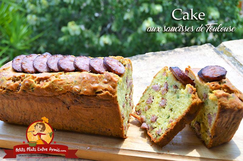 Cake aux saucisses de Toulouse