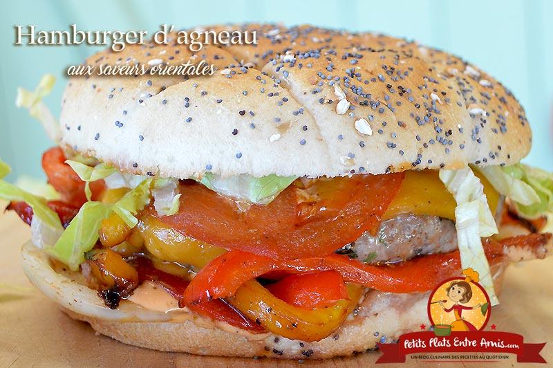 Hamburger d'agneau aux saveurs orientales