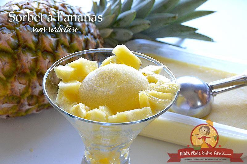 Sorbet à l'ananas sans sorbetière