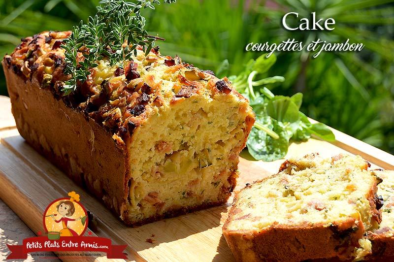Cake courgettes et jambon