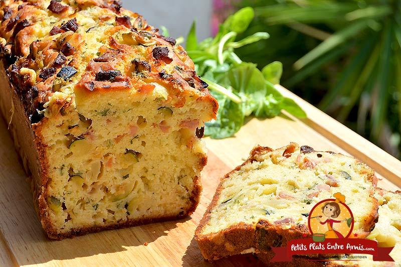 Recette de cake courgettes et jambon