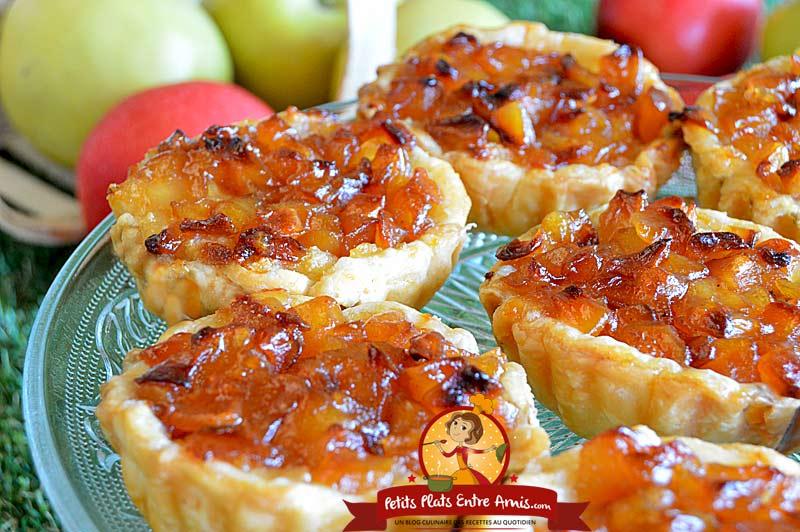 Recette de tartelettes pommes amandes