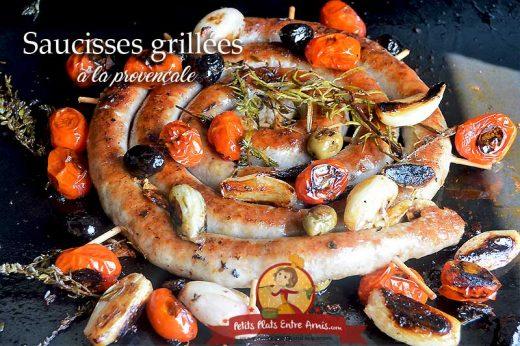 Saucisse grillée à la provençale