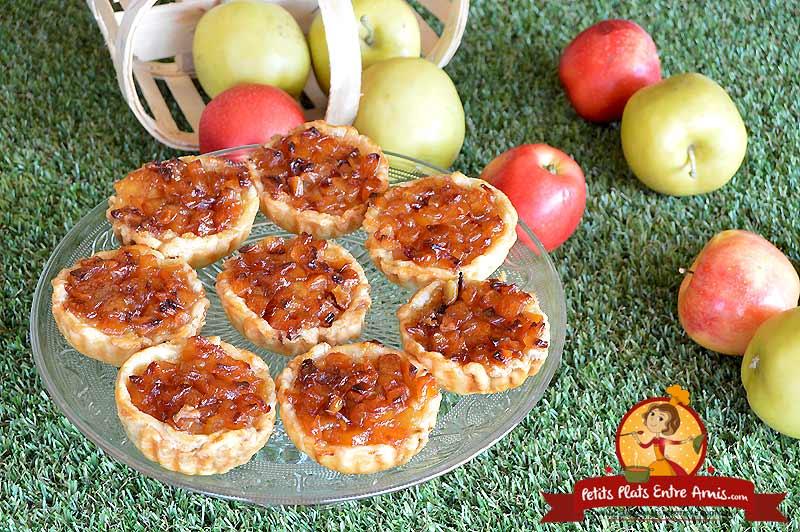 Tartelettes pommes amandes la recette