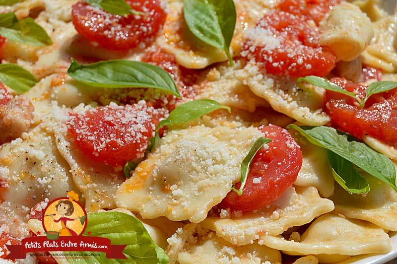 Recette de raviolis aux tomates et basilic