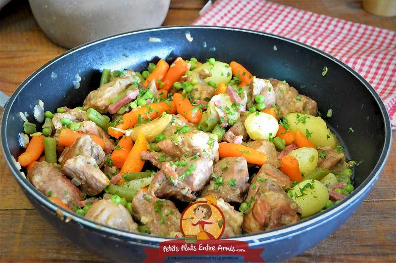 Recette de sauté de porc aux légumes