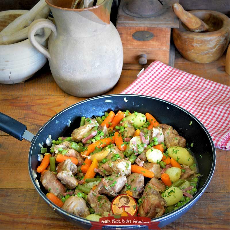 Sauté de porc aux légume la recette facile