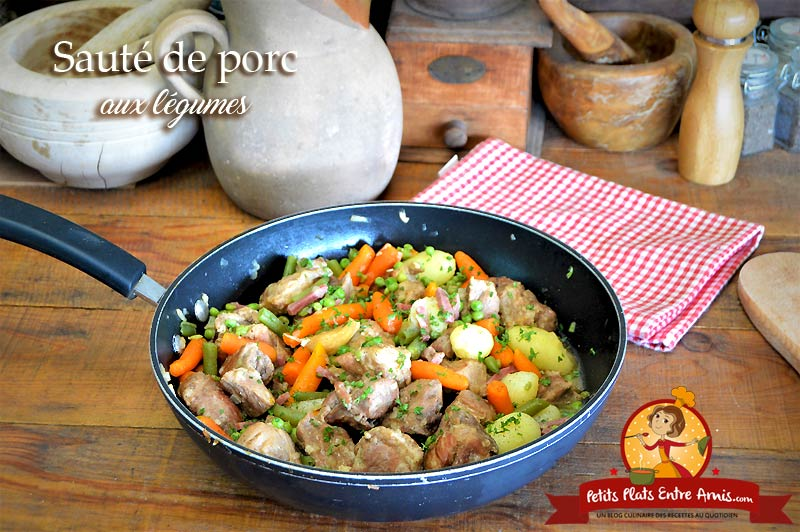 Sauté de porc aux légumes