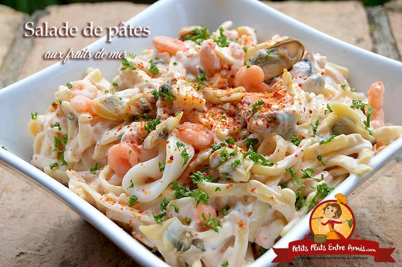 Salade de pâtes aux fruits de mer