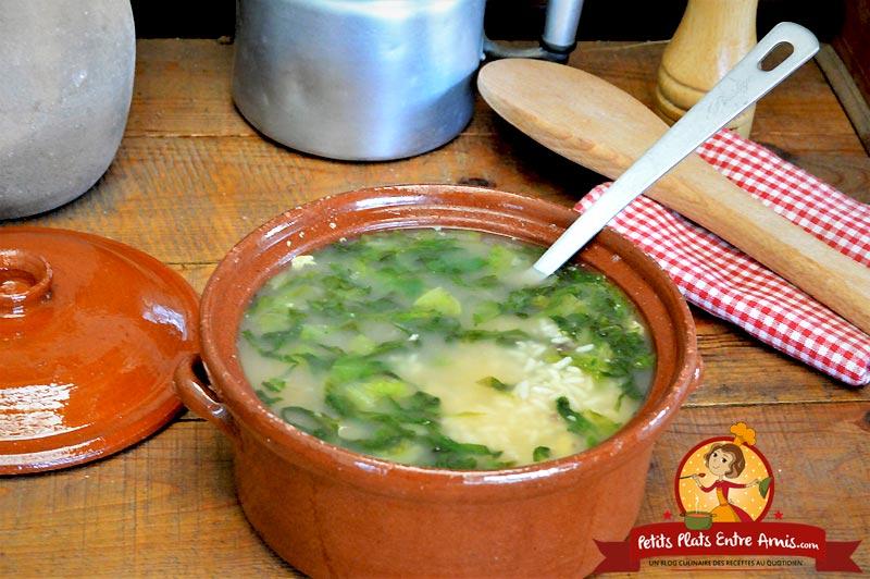 Soupe de riz et salade la recette facile