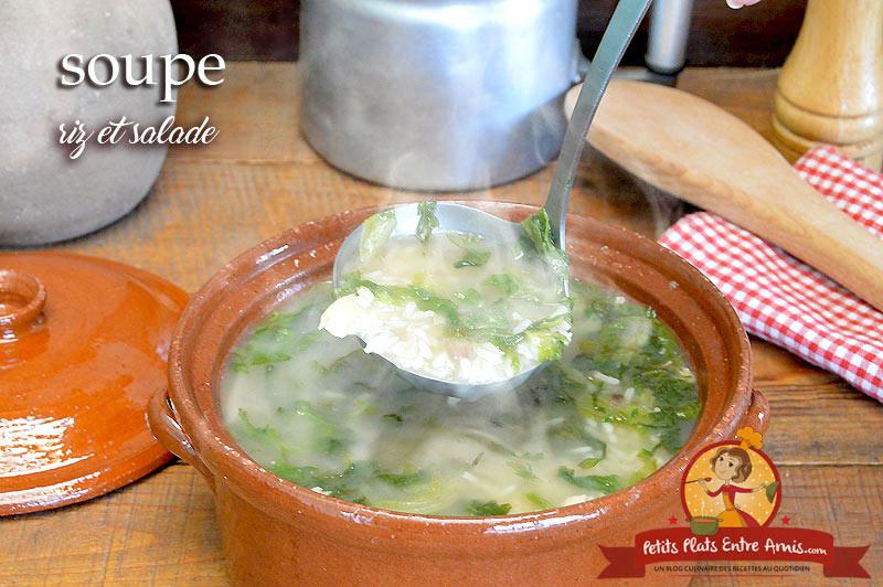 Soupe de riz et salade