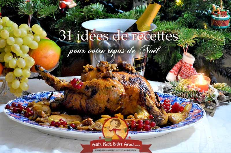 31 idées de recettes pour votre repas de Noël