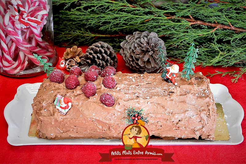 Bûche de Noël chocolat framboises la recette