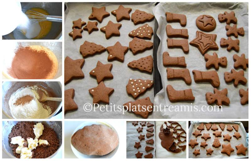 Cuisson sablés de Noël chocolat cannelle