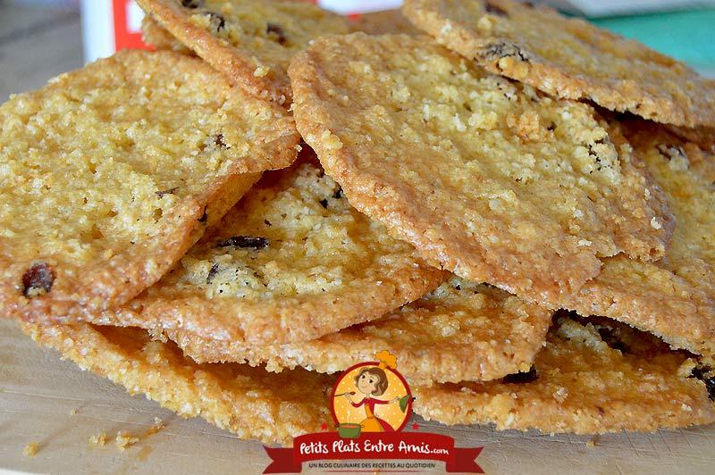 Recette de biscuits à l'avoine et raisins secs