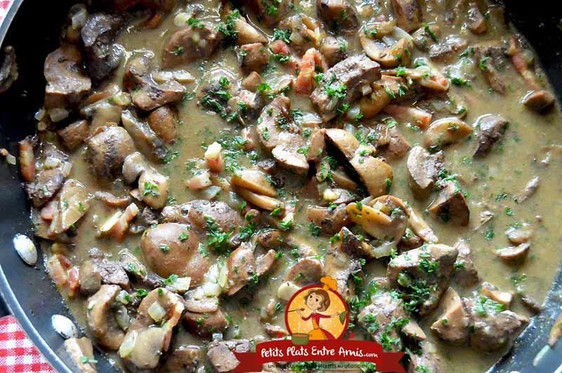 Recette de rognon de boeuf sauce madère