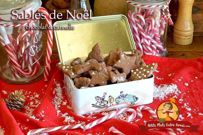 Sablés de Noël chocolat cannelle