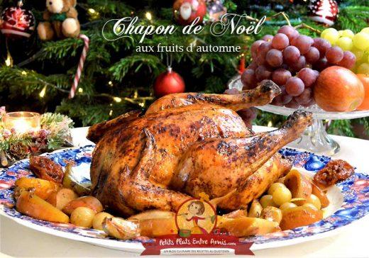 Chapon de Noël aux fruits d'automne
