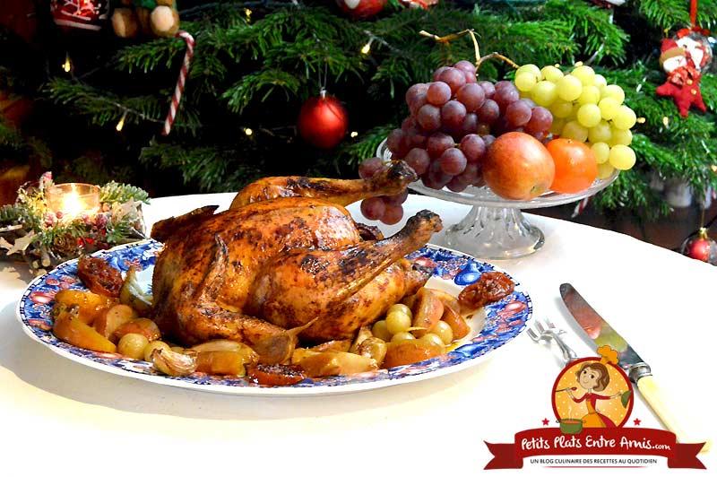 Chapon de Noël aux fruits d'automne la recette