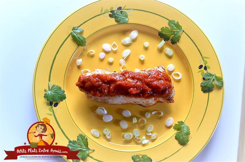 Filet de poisson blanc à la tomate la recette facile