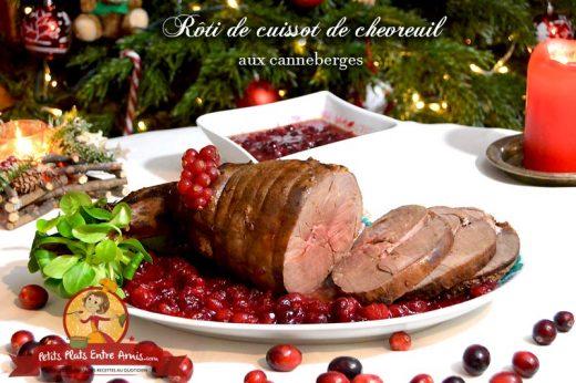 Rôti de cuissot de chevreuil aux canneberges