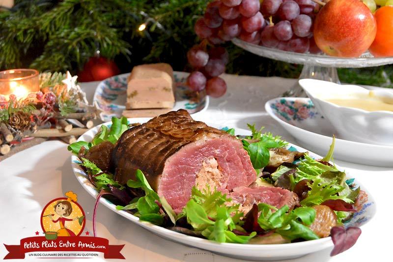 Recette de rôti de filet de boeuf au foie gras