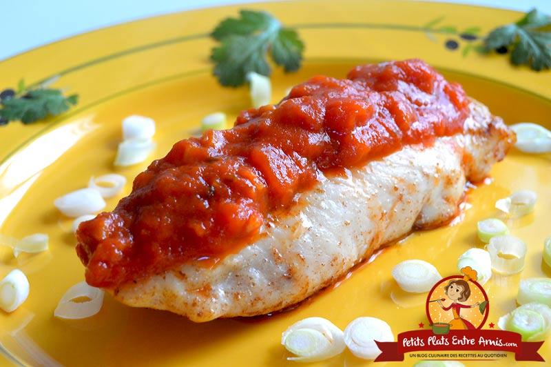 Recette de filet de poisson blanc à la tomate