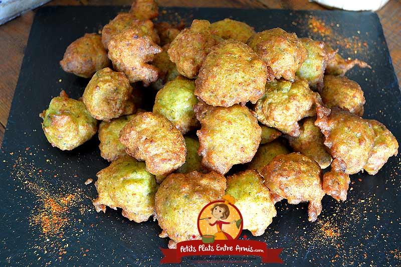Accras de poisson et brocolis la recette