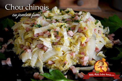 Chou chinois au jambon fumé