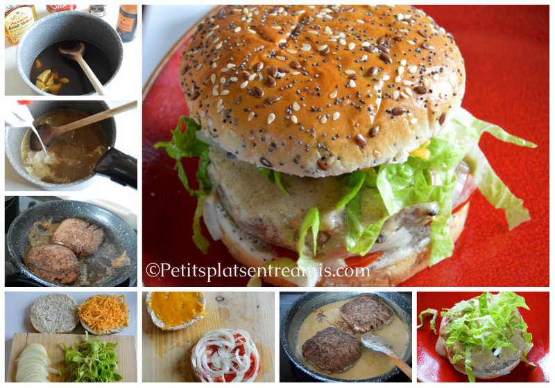 Cuisson burger sauce au poivre