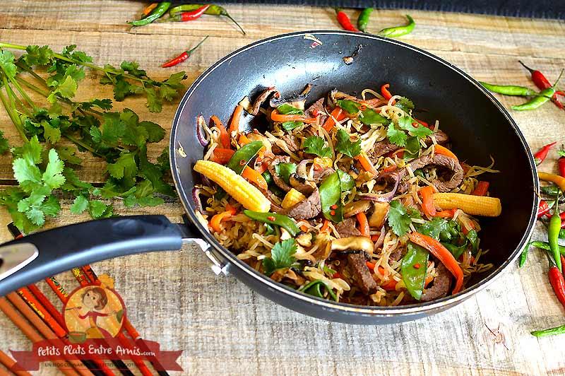 Boeuf sauté façon thaï la recette