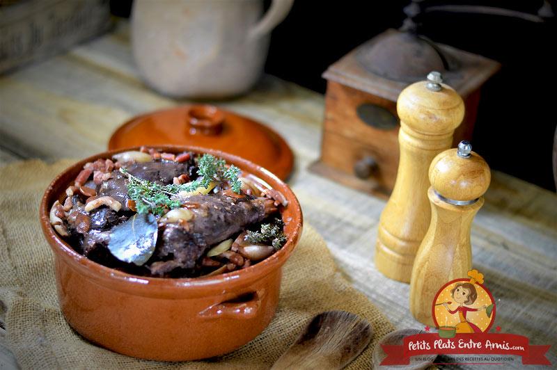 Civet de cuisses de lièvre la recette