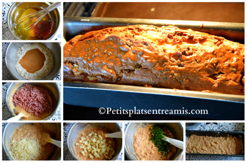 Cuisson cake au cantal et jambon fumé