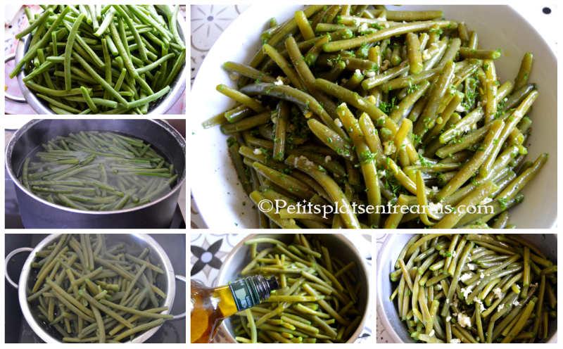 Cuisson haricots verts à l'ail et au persil