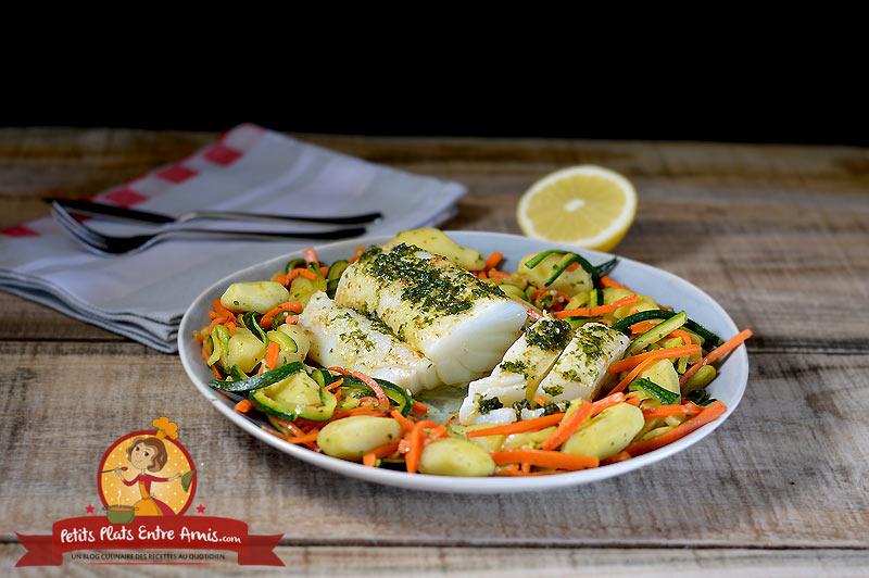 Filet de morue aux petits légumes la recette