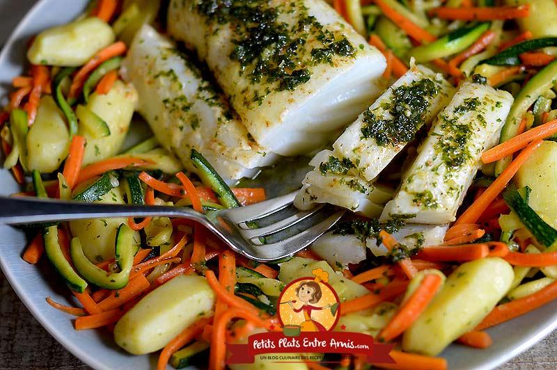 Recette filet de morue aux petits légumes