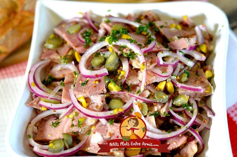 Recette salade de fromage de tête aux pistaches
