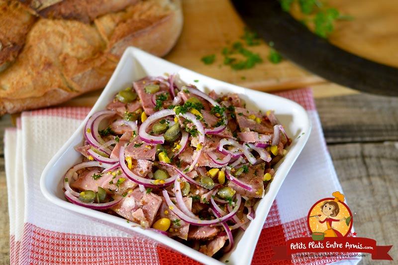 Salade de fromage de tête aux pistaches la recette
